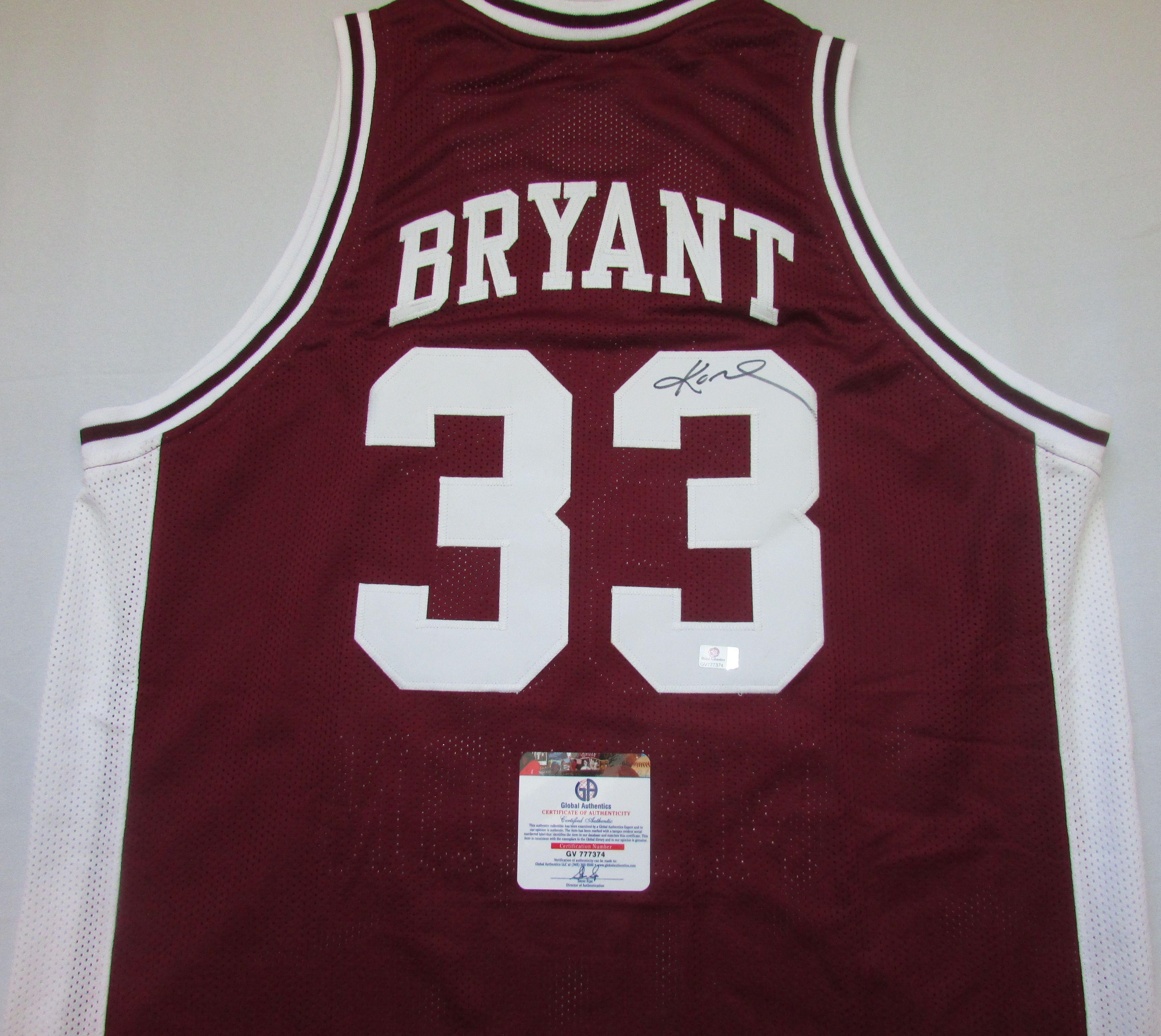 Lot Detail - KOBE BRYANT SIGNED LOWER MERION HIGH SCHOOL JERSEY